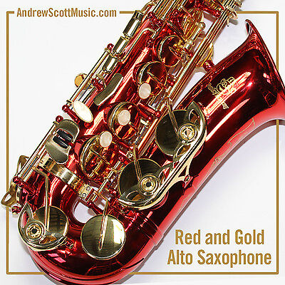 New Red Alto Saxophone in Case - Masterpiece