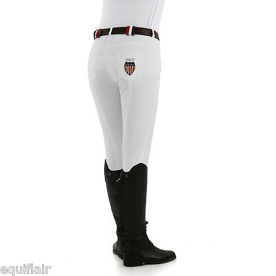 Kingsland Kelly Slim Fit Breeches - White Stars and Stripes