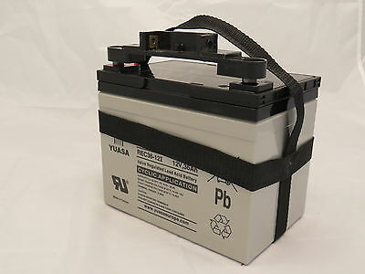 Yuasa REC36-12 Golf Battery, 12V 36AH, 36 Hole, TBar & Carry Strap