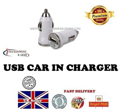 New USB In Car Charger plug Adaptor Bullet Light For all iPHONES SAMSUNG HTC NOK