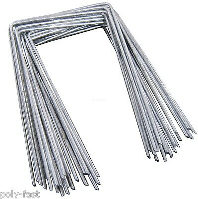 Steel Metal Ground Pegs Staples HeavyDuty for Weed Control Fabric Membrane Cover