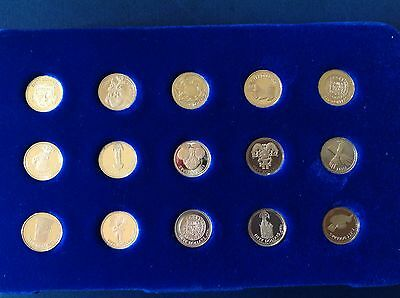 1988 British Virgin Islands gold treasure coins of ancient civilizations proof