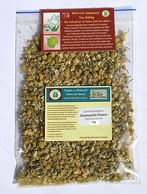 CHAMOMILE FLOWER Dried Herbal Tea 50gm Organic Matricaria recutita herb