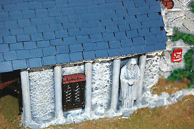 Warhammer Fantasy/LOTR painted terrain lot - Imperial church/temple, 28 mm scale