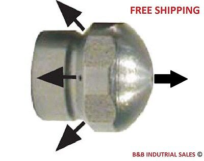 """1/8"""" Laser Sewer Cleaning Jetter Nozzle #6.0 FREE SAME DAY SHIPPING - BEST PRICE"""