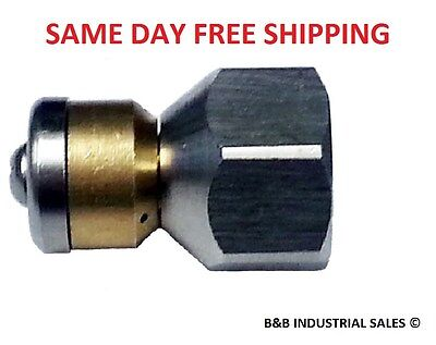 "3/8"" Rotating Sewer Cleaning Jetter Nozzle #8.5 FREE SHIPPING BEST PRICE ON EBAY"