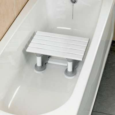 Savanah Slatted Bath Shower Seat Bathing Step Stool Secure Mobility Aid