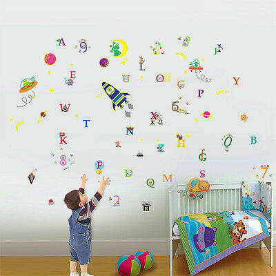 Wall Stickers Mural Decal Paper Art Decoration Glow Number Alphabet Kids Cute