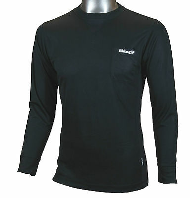 New Cycling / Fitness Coolmax Long Sleeve Baselayer Top -  Black