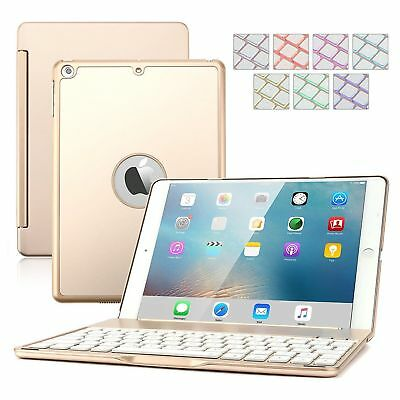 360 Swivel Hard Plastic Bluetooth Keyboard Case Pink Girls Cover For iPad Air 1