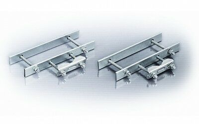 Balcony Balustrade Railings Clamp Set for Aerial Satellite Pole Mast Galvanized