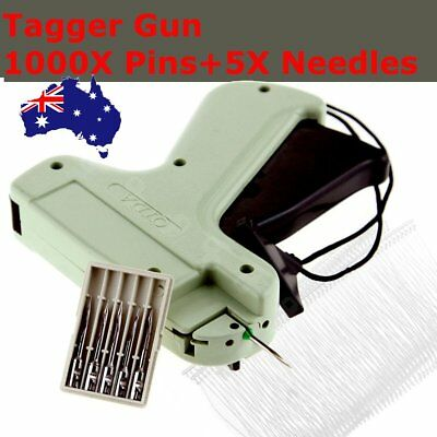 Tagging Gun Set with 5 Steel Needle &1000 Kimble Tag Label Barbs for Clothes Hat