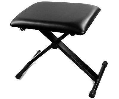 High Quality X Frame Adjustable Height Keyboard Bench Piano Stool Black
