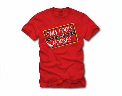 Only Fools and Horses Red Logo OFFICIAL T Shirt Red
