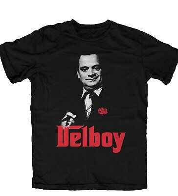 Only Fools and Horses Del Boy Godfather Style OFFICIAL T Shirt Black