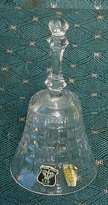 Golden Crown Bayel Lead Crystal Bell, E & R France, VGC BEAUTIFUL