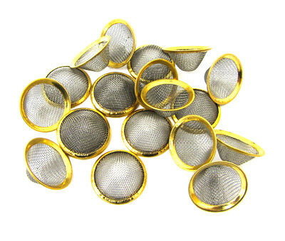 Brass Metal Conical Bowl Filter Screen 20mm For All Types Smoking Pipes
