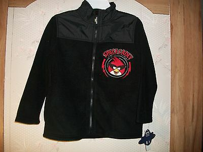 Angry Birds Space Cadet Fleece Boys Nwt Jacket Size 4,5,6,7 Retail $45.00