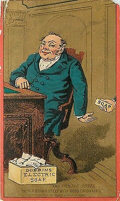 Victorian Advertising Trade Card Dobbins' Electric Soap Card No. 5