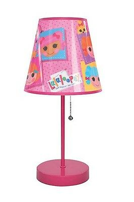 "New 16"" Pink Lalaloopsy Table Lamp Girls Kids Bedroom Decor"