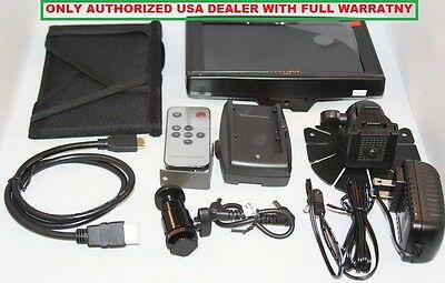 "Lilliput 7"" 619A HDMI Field Monitor+LP-E6 adapter+hot shoe  for Canon 5D-II III"