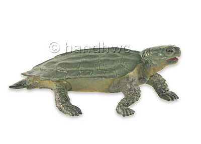 AAA 96935 Green Notched Turtle Realistic Toy Reptile Model Replica - NIP