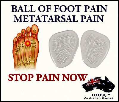 Great Relief ! Silicone Gel Metatarsal Insole Pads Forefoot Dome Ball Of Foot