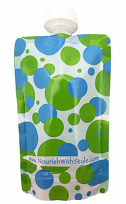 5, 10 & 20 Packs - Reusable Food Pouch for Babies & Toddlers, POLKA DOT