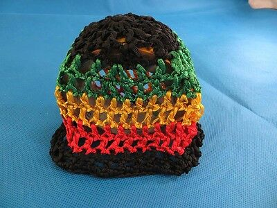 US SELLER-6 crochet baby rasta hat. Striped beanie for baby boys or girls