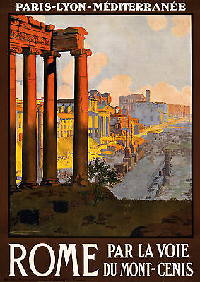 048 Vintage Travel Art Poster Rome *FREE POSTERS