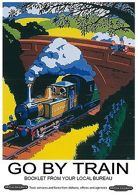225 Vintage Railway Art Poster Go By Train   *FREE POSTERS