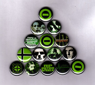 TYPE O NEGATIVE - PINS BUTTONS BADGES (bloody kisses shirt vinyl carnivore logo)
