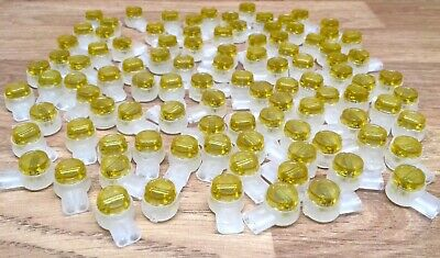 Pack Of 100 8A 2 Wire Telephone Jelly Crimps Bt Virgin Telecom Connector Joiner