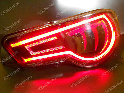 Red Flexible Tube Brake Light Strip Drl Led Tail Light Flexi