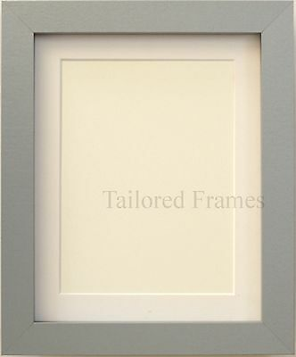 Grey silver picture photo Frame with White and Black Mounts available all sizes