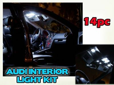 14 PIECE 3 Door  AUDI A3 S3 INTERIOR MAP FOOT WELL LIGHT KIT SLINE WHITE LED