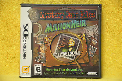 Nintendo DS GAME Mystery Case Files: MillionHeir