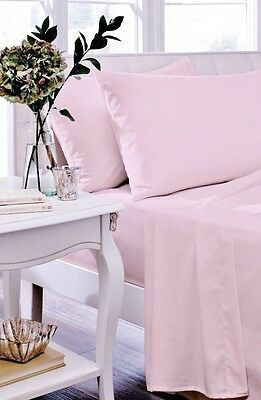 Catherine Lansfield Candyfloss Non Iron Percale Sheets And Optional Pillowcases