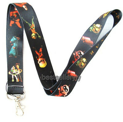 New 10 Pcs Disney Pixar Neck mobile Phone lanyard Keychain straps charms Gifts