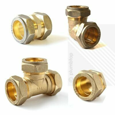 Elbow Equal Tee Stop End Straight Coupler Brass Compression Plumbing Fittings