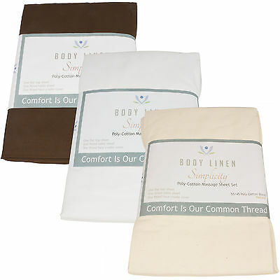 Poly-Cotton Massage Table Fitted Sheets (5 pack)