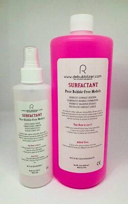Russman DeBubblizer Surfactant, 32oz with empty 8 oz spray bottle