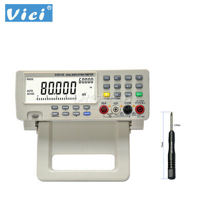VICI Digital Multimeter VC8145 Bench Top Voltmeter PC DMM 80K Digit AC DC B0255