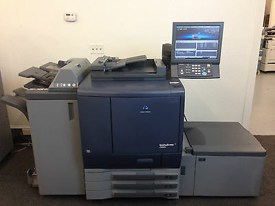 Konica Minolta Bizhub Pro C6000L Copier Printer Scanner Finisher LCT, only 122k