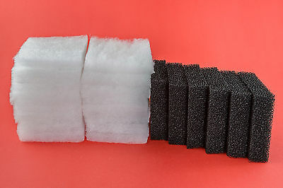 52 Poly Floss & 12 Carbon Filter Pads to fit JUWEL COMPACT Bioflow 3.0 M media