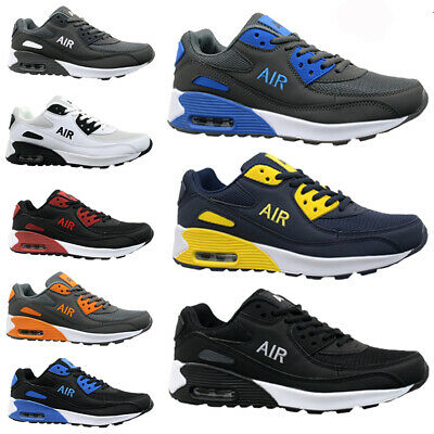 Mens Running Trainers Casual Gym Walking Boys Sports Hi Top Shoes Ladies Air New