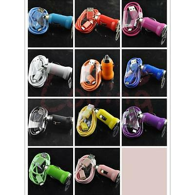 2in1 Mini car charger+ Micro USB Data Charger Cable Cord Samsung Galaxy Htc etc