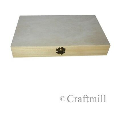 Wooden Box / Case to display or protect military war medals - plain inside/out