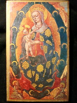 15th Century Madonna by Lovro Dobricevic Reproduction Mounted on Wooden Board