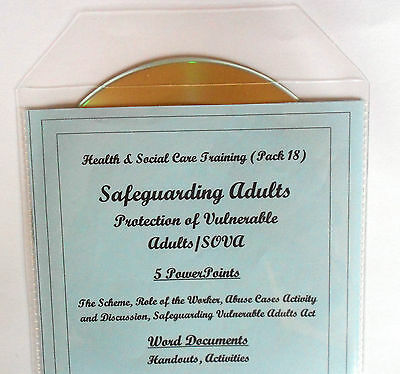 SAFEGUARDING ADULTS SOVA Health and Social Care Training Resources Level 2 3 CD